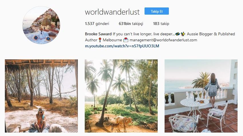 instagram gezi sayfaları